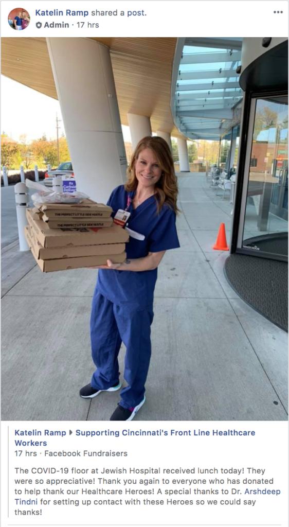 Cincinnati-Jewish-Hospital-frontline-healthcare-workers-receiving-lunch